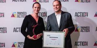 [Tophées Action Co 2016] Emmanuelle Bahuaud, (Intersport) reçoit le Trophée Bronze du manager commercial de l'année 2016