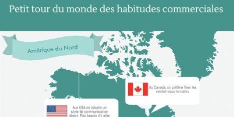 [Infographie] Tour du monde des habitudes commerciales