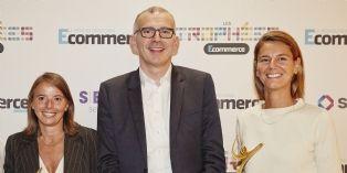 Personnalités E-commerce de l'année : Emmanuel Grenier (Or), Nelly Brossard (Argent), Marion Carrette (Bronze)